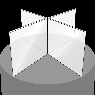 アクリル デスク間仕切り型 十字タイプ